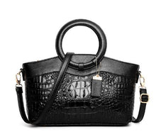 Load image into Gallery viewer, Crocodile PU Leather Handbag