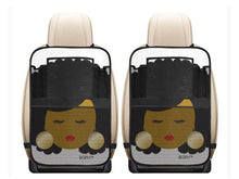 Load image into Gallery viewer, 2 Afro Woman Car Seat Organizers with Pouches