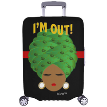 Load image into Gallery viewer, Turban Lady I'm Out Luggage Cover