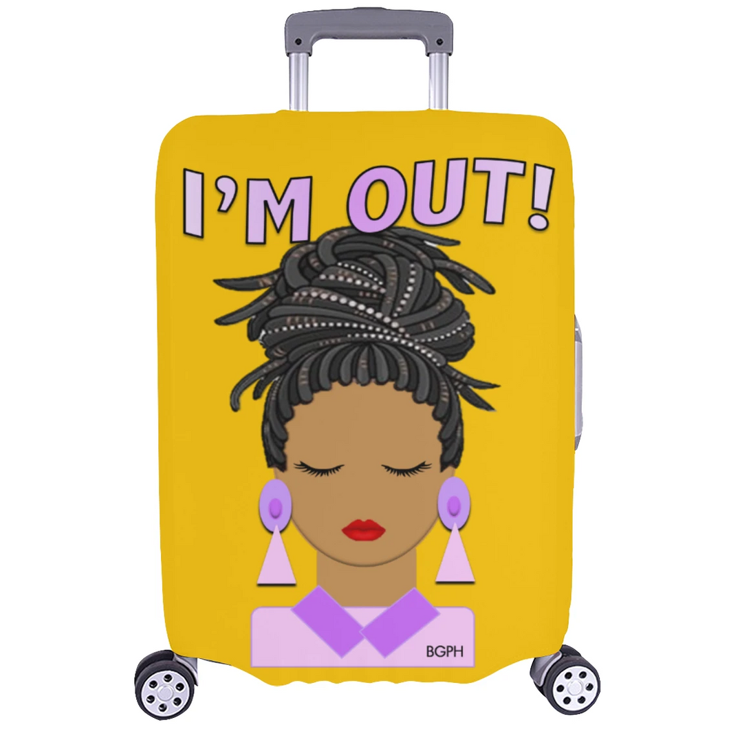 Up Do Lady Luggage Cover