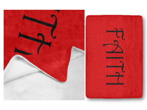 FAITH Ultra Soft Fleece Blanket