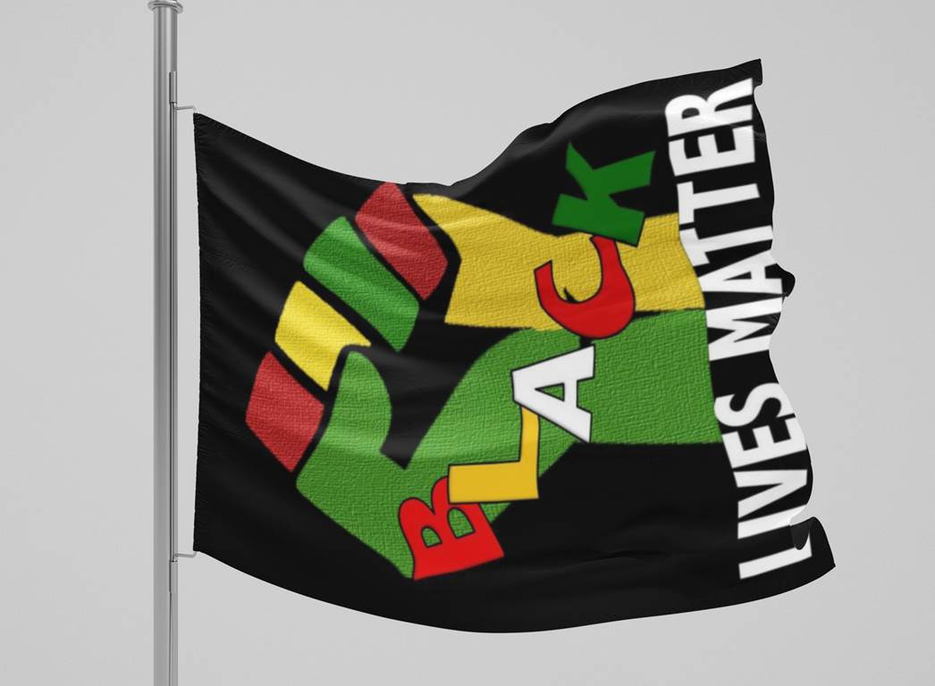Black Lives Matter Fist Flag