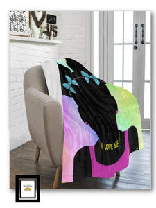 I LOVE ME GIRL Ultra Soft Fleece Blanket