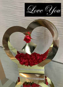 Heart Shaped Gift Box With Flowers