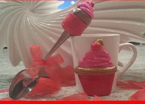 Pop'N Pretty Cupcake Mug & Spoon