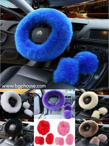 3 Piece Furry Car Set