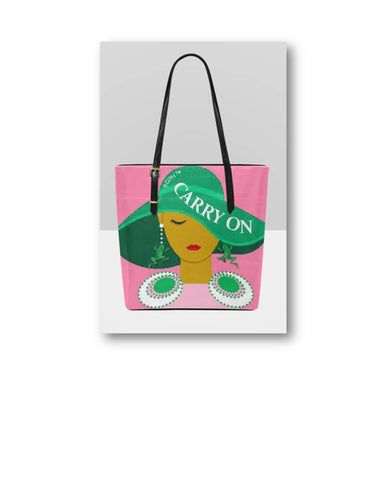Carry On Tote Purse (Frog)