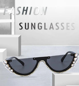Diamond Cat Eye Sunglasses