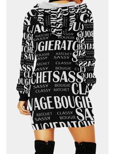 Ratchet, Bougie, Classy, Sassy Long Hoodie