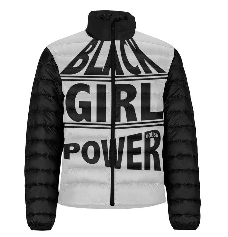 Black Girl Power Puffer Jacket