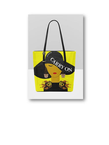 Carry On Tote Purse (Leopard)