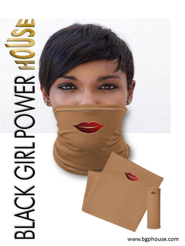 Black Girl Face & Neck Gaiter Mask