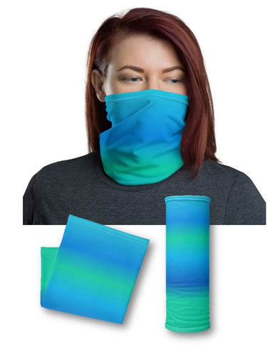Ocean Blue Face & Neck Gaiter Mask