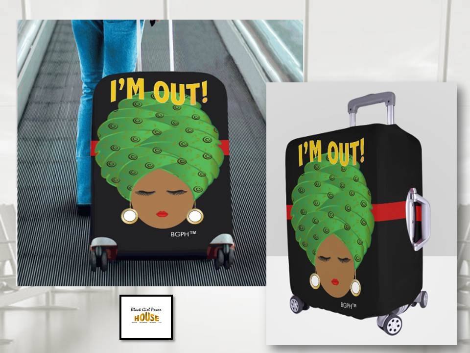Turban Lady I'm Out Luggage Cover