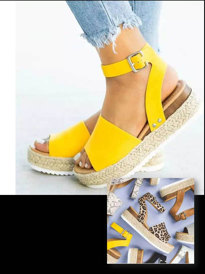 Women's Wedge Sandals With Strap