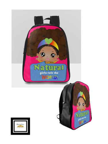 Natural Girls Large Backpack
