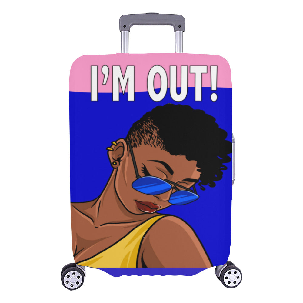 I'm Out Shades Lady Luggage Cover