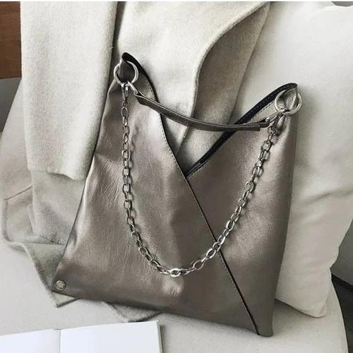 Luxury Leather Handbag with Chain