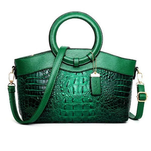 Crocodile PU Leather Handbag