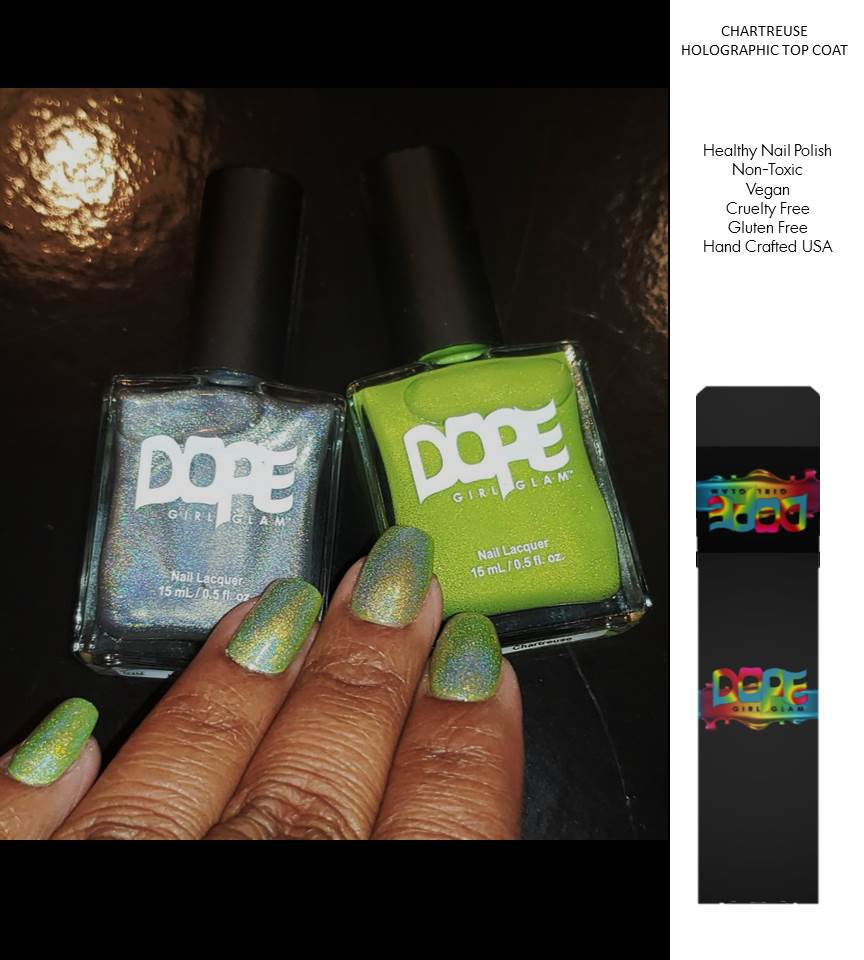 Chartreuse Nail Polish Holographic Set
