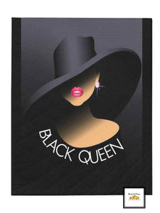 Black Queen Blanket or Quilt