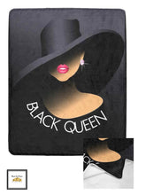 Load image into Gallery viewer, Black Queen Blanket or Quilt