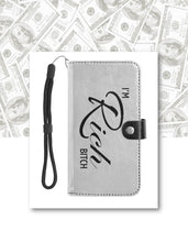 Load image into Gallery viewer, Leather Wristlet Wallet with Cell Phone Holder