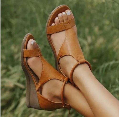 Roman Style Wedge Heel Shoes