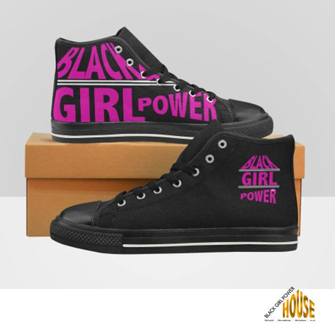 Black Girl Power High Top Canvas