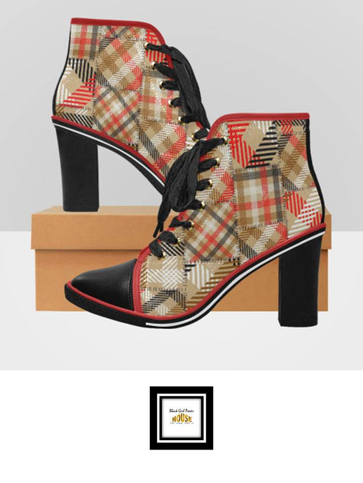 Women's Chunky Heel Ankle Boots A-14