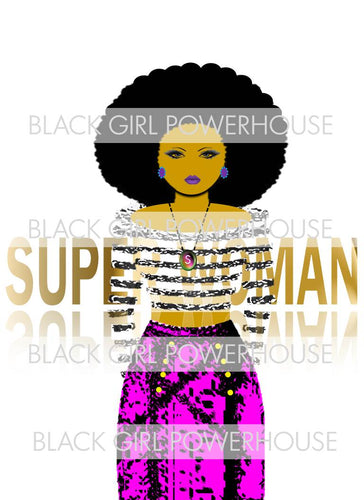 Superwoman Purple PNG