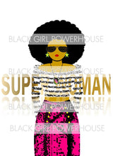 Load image into Gallery viewer, Superwoman With Glasses PNG