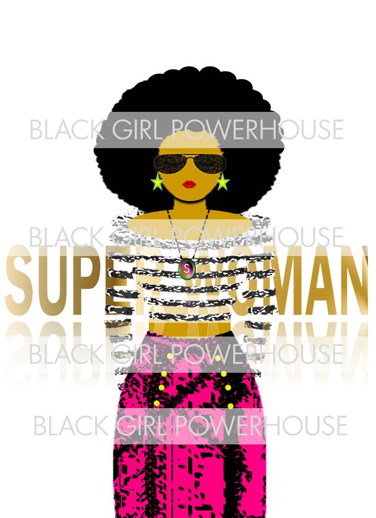 Superwoman With Glasses PNG