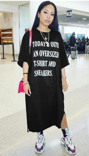 Today's Outfit Oversized T-Shirt Dress