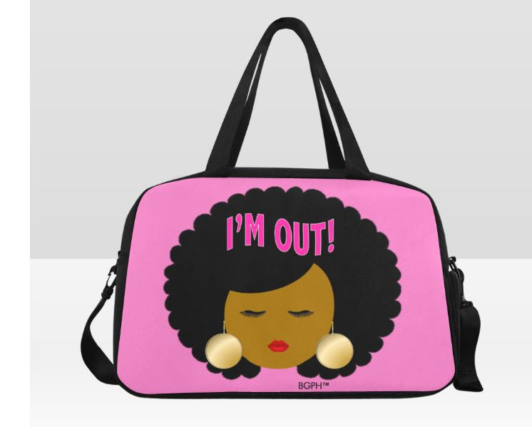 Afro Girl I'm Out Traveling Bag
