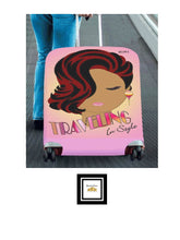Load image into Gallery viewer, Traveling In Style Lady Luggage Cover