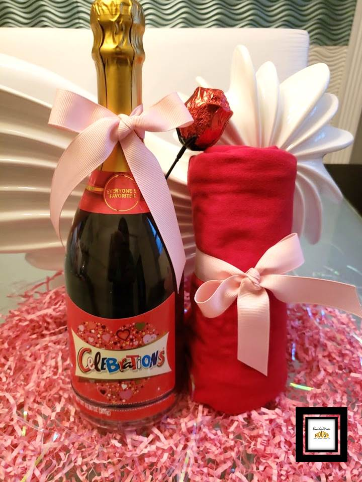 Valentine's Day Champagne Bottle Gift