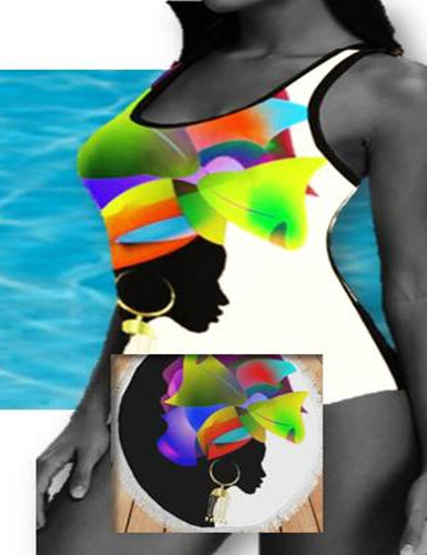 Island Girl Multicolored Swimsuit