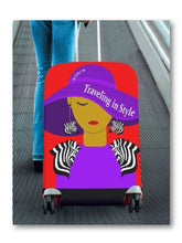 Load image into Gallery viewer, Traveling In Style (Zebra) Luggage Cover