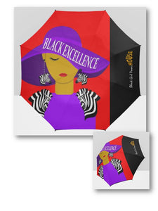 Black Excellence Umbrella (Zebra)