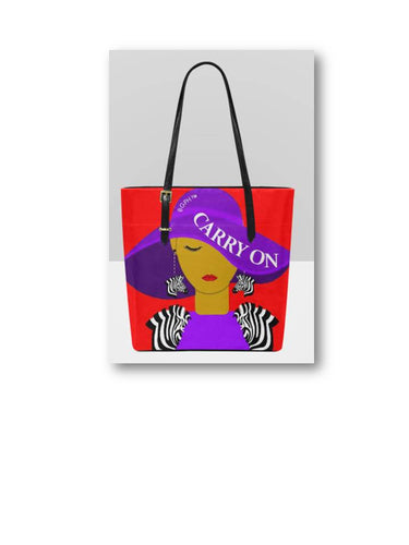 Carry On Tote Purse (Zebra)