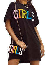 Load image into Gallery viewer, GIRLS Oversized T-Shirt and Purse