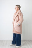 Dusty Pink Faux Fur Coat