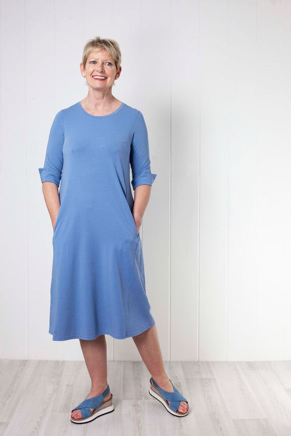 Mama B Fumo Dress - Sky Blue
