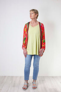 Bl-nk Johanna Cover Up - Coral Tropical Print