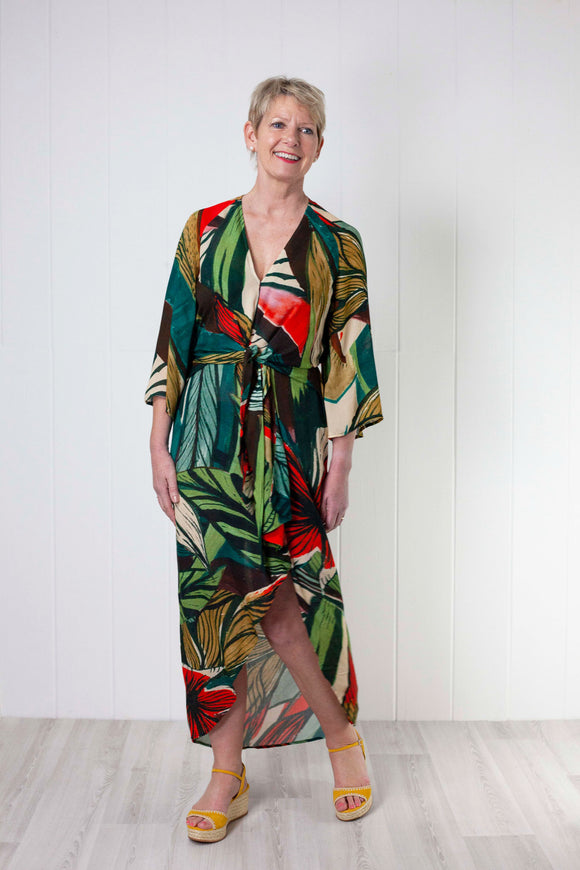 Bl-nk Lena Dress - Jungle Print