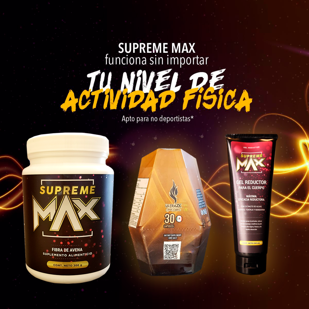 ULTRA ZX GOLD + GEL REDUCTOR Y FIBRA SUPREME MAX