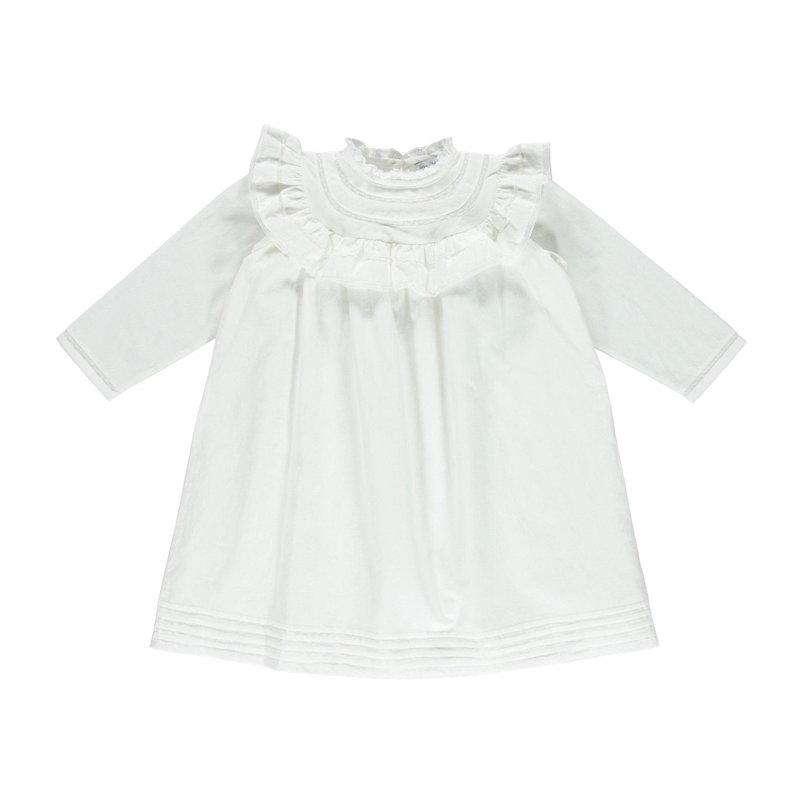 ORGANIC COTTON 'CRISTINA DRESS', OFF WHITE | BEBE ORGANIC - Spinel Boutique