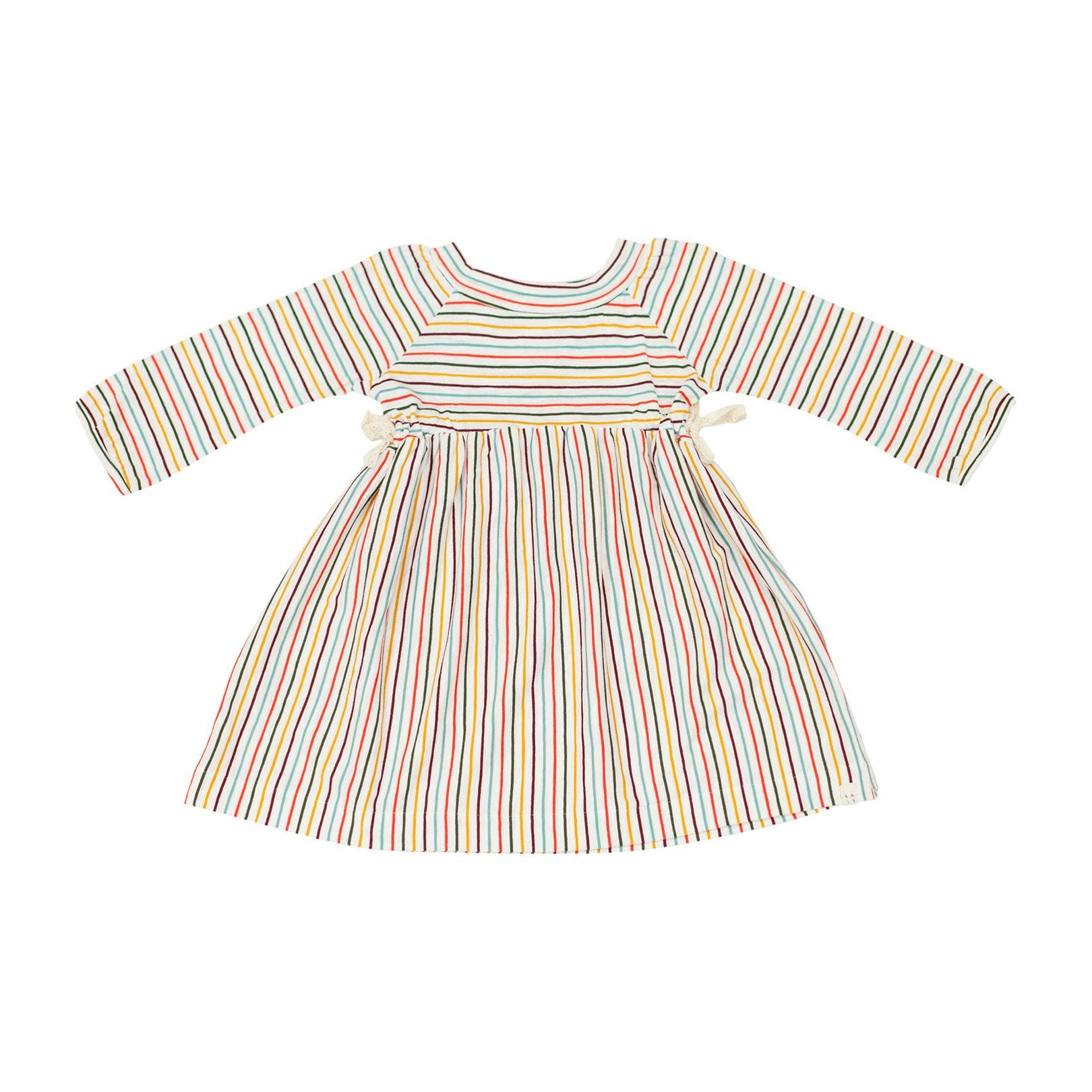 STRIPED SIDE- TIE DRESS, MULTI | SPINEL BOUTIQUE - Spinel Boutique