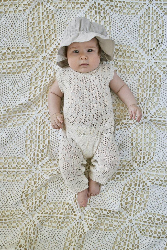 UNISEX ORGANIC KINITTED 'ELOAN' ROMPER | BEBE ORGANIC - Spinel Boutique